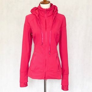 Zella Bright Pink Zip Front Hooded Jacket
